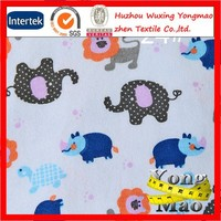 Huzhou factory supply 100% cotton printed fabric for children clothing