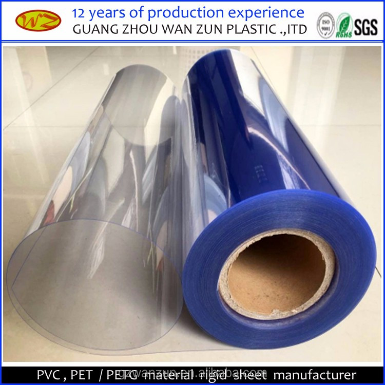 Transparent Clear rigid PVC Film In Roll for Thermoformring