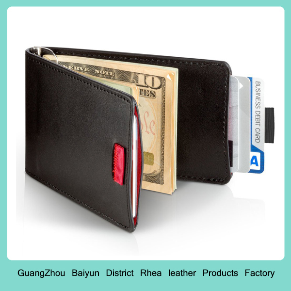 Best Mens Personlized Thin Coin Credit Card Holder Slim RFID Blocking Bifold Leather Money Clip Wallet