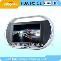 Unique design~11 inch portable dvd player with VGA+GAME+DVD+USB+TV+AV+LCD Monitor+Battery