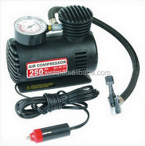 DC 12v 250 psi mini car air pump/tire inflator
