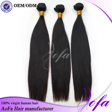 2015 aliexpress good quality raw unprocessed virgin brazilian and peruvian human hair extension