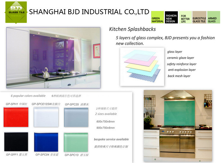 6-12MM Tempered Glass Splashback,Kitchen Glass,Decoration Splashbacks Tile