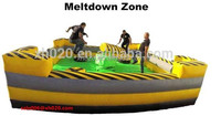 inflatable sport Interactive Meltdown Wipe Out Zone Game outdoor for adult and kids