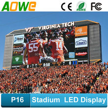 2015 hotsale Football, basketball stadium led display board P16 outdoor full color