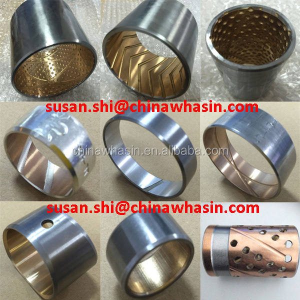 AlSn20Cu bearing for gearbox gear bearing/car connecting rod bushing/truck camshaft balance shaft shock absorber bimetal bush