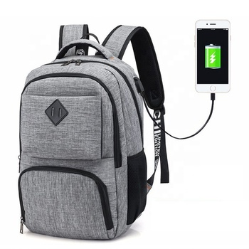 Waterproof Business Travel Computer bag bagpack back pack Smart 15.6 inch Laptop backpack with USB charging port
