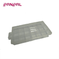 China supplier 6-24 Comp. Removable Transparent Plastic Hardware Storage Box with Lid and Handle