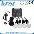 ABS plastic 5W 10W 20W portable mobile charger mini solar home lighting kit
