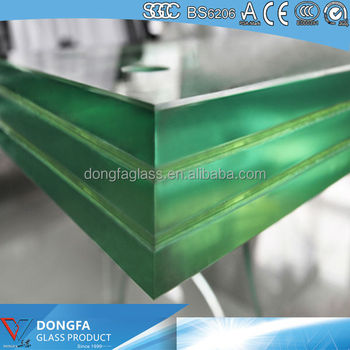 Laminated glass for curtain wall