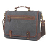 Vintage Wash Canvas Leather Messengers Bag Travel Bag