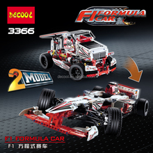 Decool 3366 F1 formula car 2 model 1120pcs Building Bricks Blocks car Toys