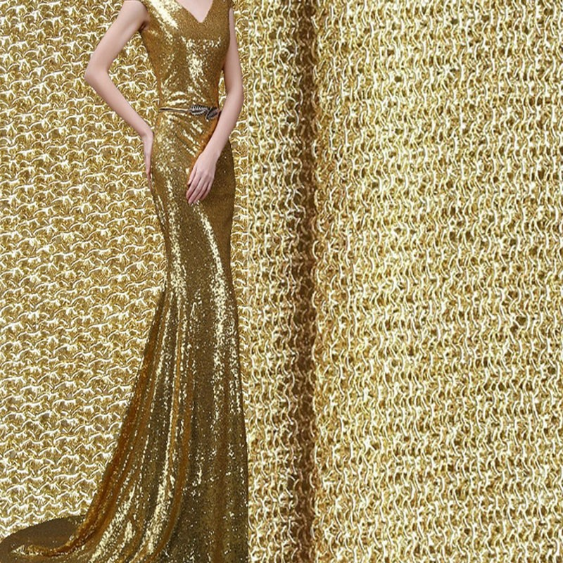 gold lurex tulle fabric for apparel