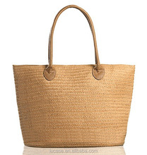 2015 hot selling make recycled straw bag for women