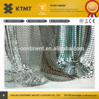 Fashionable Metal Screen Drapery Decorative/Silver Metallic Clothing/Sequin Metal Mesh Fabric