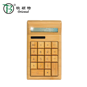 New Eco-friendly bamboo calculator bamboo packaging