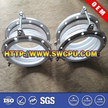 Large polypropylene fittings expansion joints with metal part
