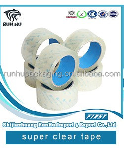 Strong adhesive packing tape super clear packing tape with free sample