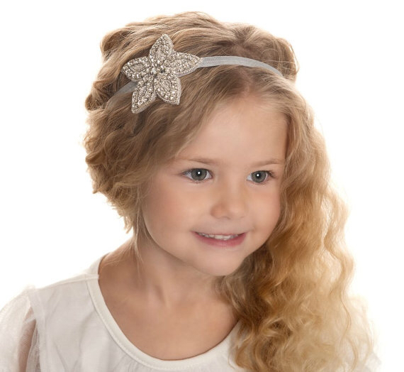 factory wholesale classic high end Five-pointed star ornament hair accessories diamond baby <strong>headband</strong>