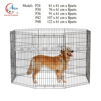 Factory outlets metal pet pens for dogs