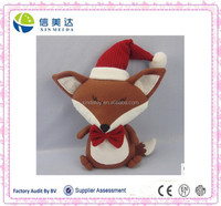 HOT SALE!! Cute fox plush toy with red hat pocket pet toy