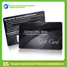 Low cost manufacturers F08 ic chip smart gift card with barcode printing