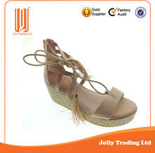 New Styly Espadrilles Rope Wedge Sandals Latest Ladies Sandals Designs