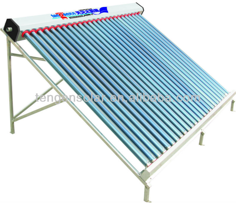 Solar water heating collector manifold project system