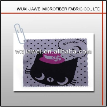 Microfiber character black cat clean cloth