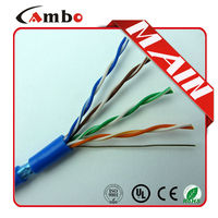 PE Insulation Double Shielded Solid Copper Conductor shield or unshield cat5e lan cable