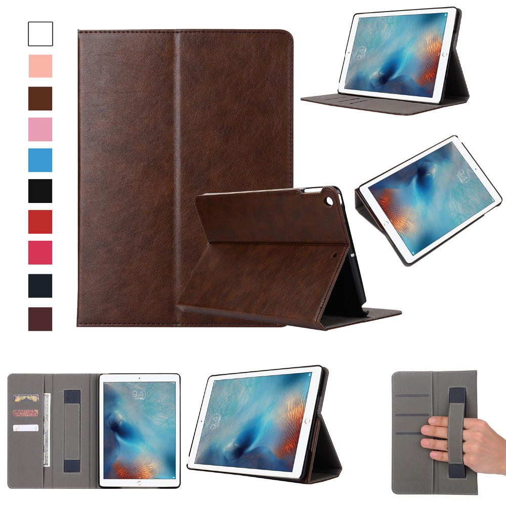 Fashion Leather Case for ipad 9.7 2017,New Design Stand Up Leather Case For Apple Ipad