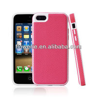 FL2525 2013 Guangzhou hot selling lattice pu leather cell phone case for iphone 5c