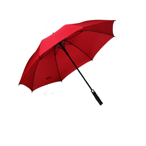 China Promotion Customized Auto Open Red Color Golf Umbrella