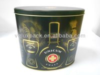 Oval Tin Box, Alcohol Tin Box, Wine Tin Box