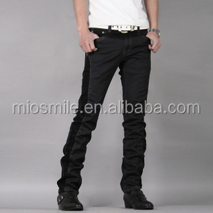 S30812A EUROPEAN HIGH END YOUNG MEN'S BODYSUIT PANTS CORDUROY JOINING JEAN FASHION PANTS