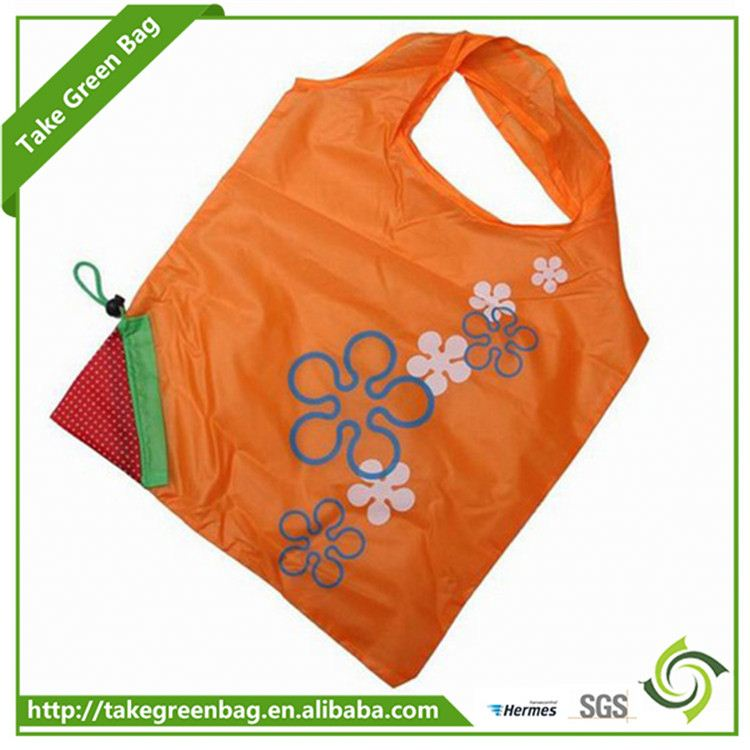 Top Quality decoration promotional custom foldable polyester tote shopping bag