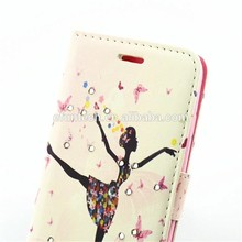 Top selling products lovely girl PU leather wallet flip cell phone case for Sony case