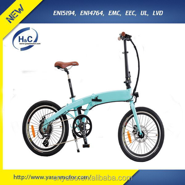 Custom Promotional Alloy Frame Electric bikes that Fold Up Bicycles