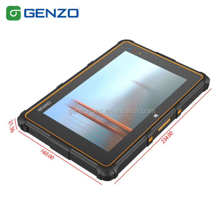 Best price IP67 Standard interface window10 cheap 8 inch rugged tablet pc With Fingerprint Scanner NFC