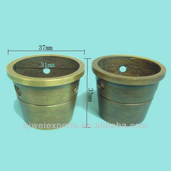 Brass Round Cup,Brass Furniture Caster Cups,Cup of Furniture Leg QW60018