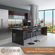 Good quality stainless steel ready made modular kitchen cabinets