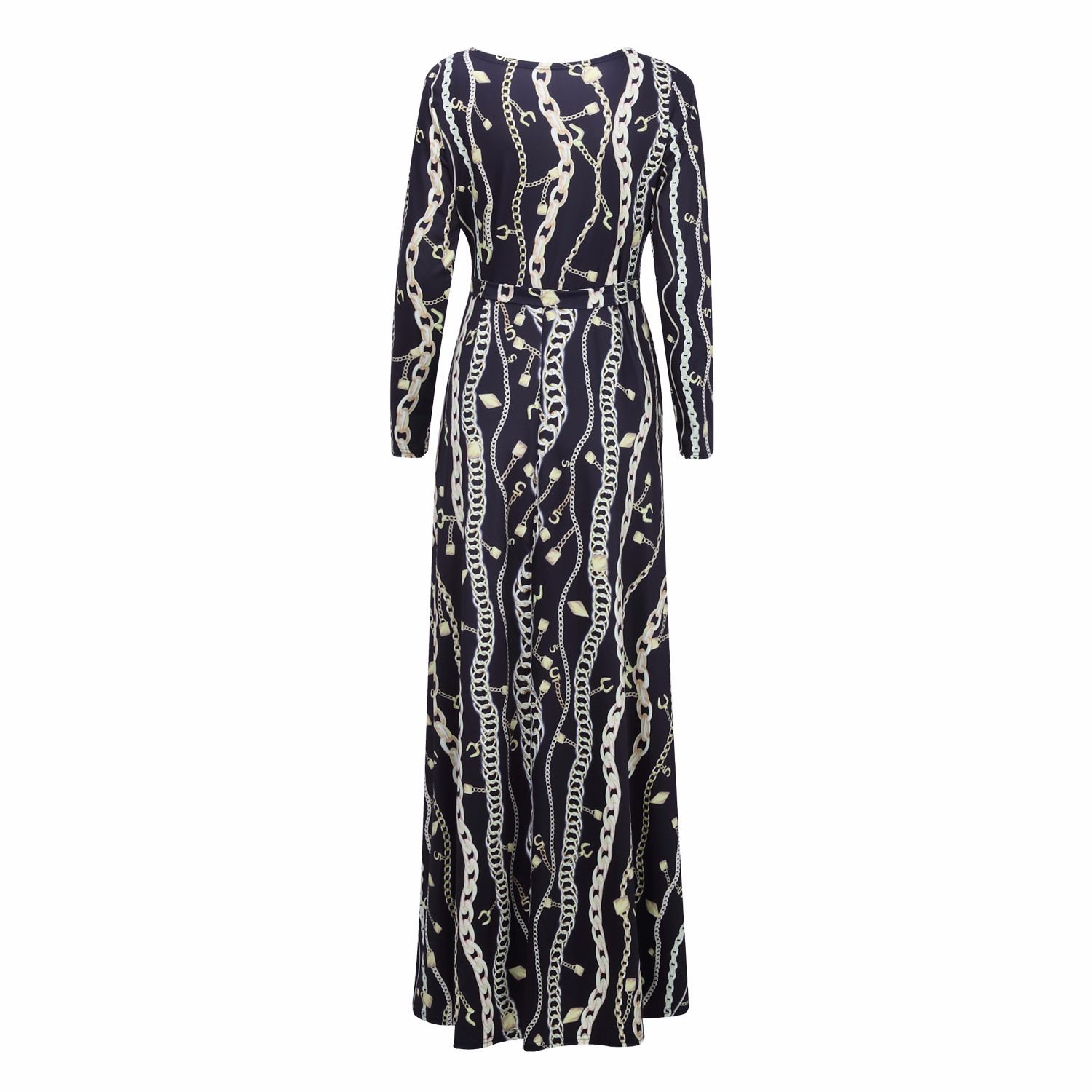 Women plus size floral printed Sexy Deep V Neck Loose Dress Stretch Casual floral maxi dress