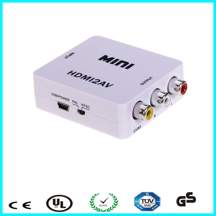 Mini HDMI 2 AV converter RCA CVbS 3 RCA Composite Video Converter