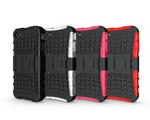 For Apple iphone 4 / 4S Case, Rugged Armor TPU+PC 2in1 Stand Shockproof Impact Protective Cover
