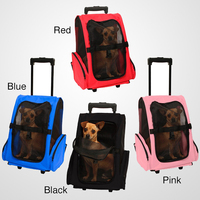 Portable Comfort Oxgord Travel Cat/ Dog Rolling Backpack