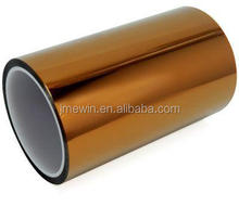 China supplier heat resistance silicone adhesive golden high temperature masking polyimide tape