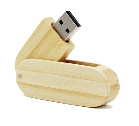 Rotate Wooden USB Thumbdrive 8GB with Customized Logo