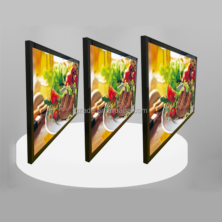 LED magnetic light box restaurant wall mount suction panels <strong>advertising</strong> menu board price list light box T22.8mm A2