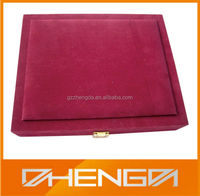 HOT SALE Factory Price custom made-in-china red PU leather coin display box for sale (ZDS-SJF040)