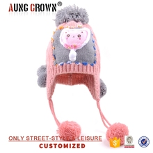 Winter Cable Knitted Beanie Children Baby,Pom Pom Baby Hat